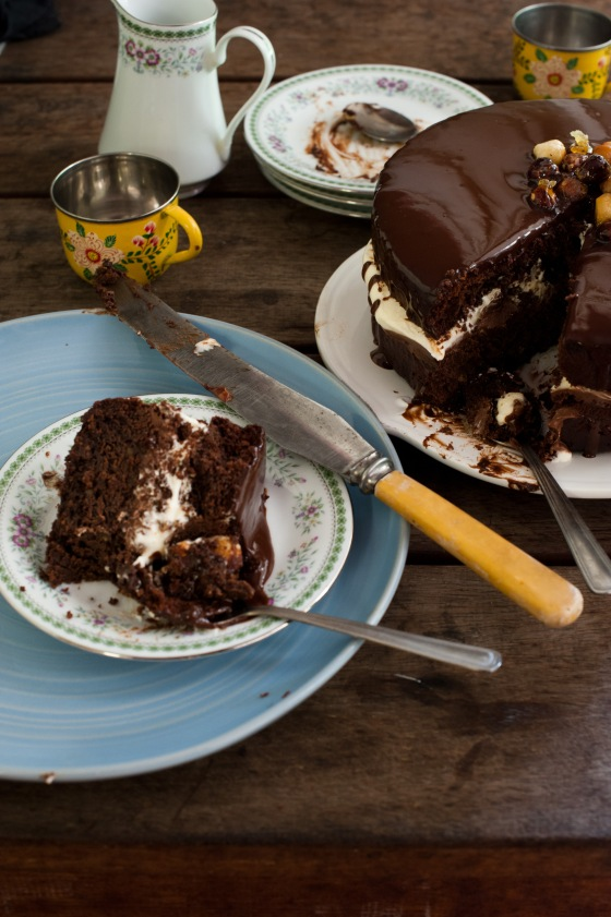 Gluten free Chocolate mud cake made with besan flour