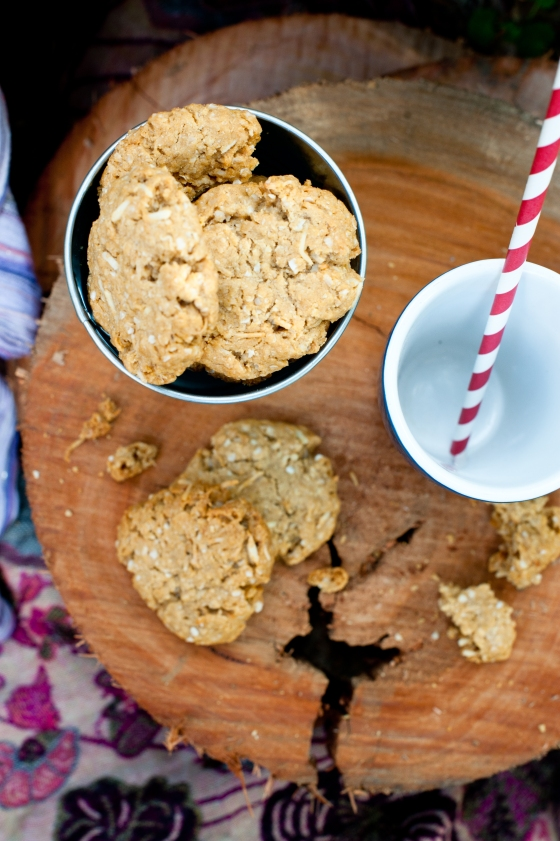 Quinoa and Ginger ANZAC biscuit